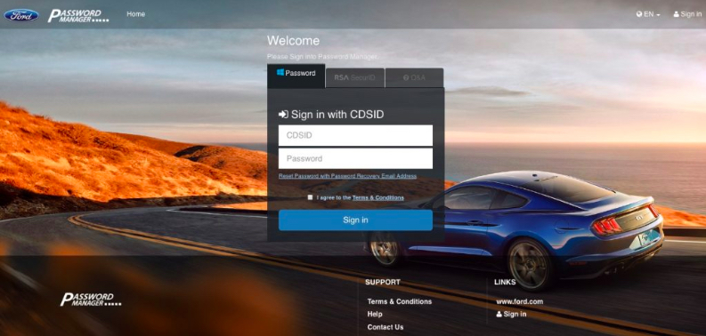 Change My Ford Pay Online Password image