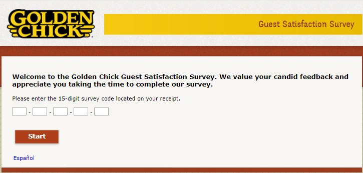 Golden Chick survey step1