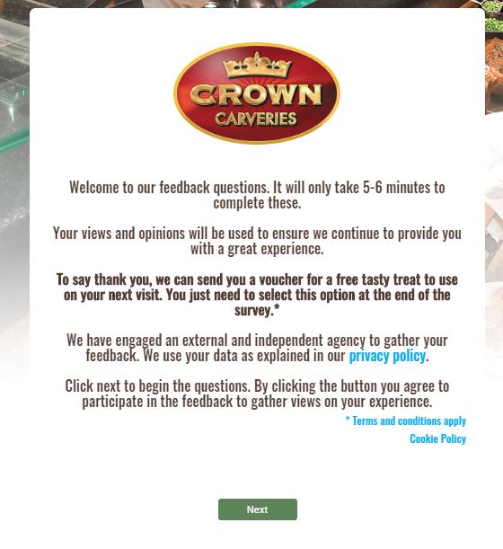 crown carvery survey step1