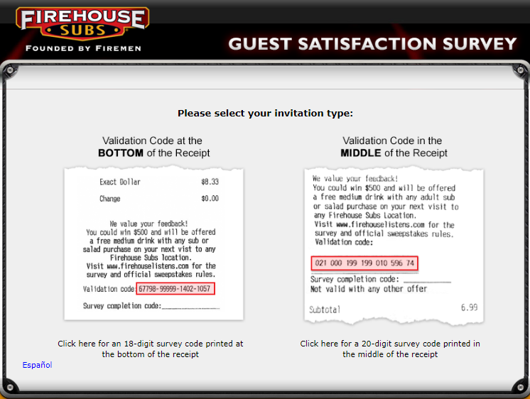 firehouse survey homepage