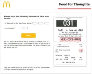 Mcdfoodforthoughts.Com Survey To Get Free Food