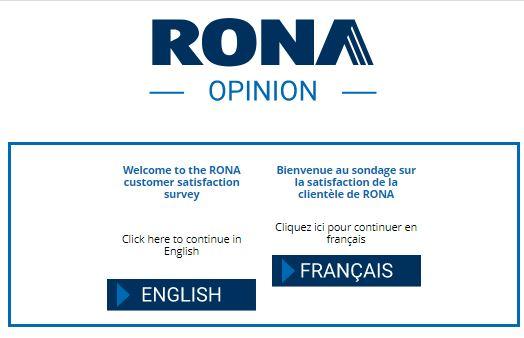 Rona survey page
