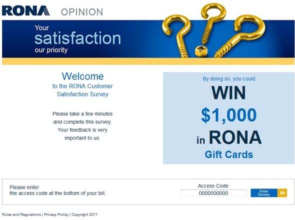 Rona survey